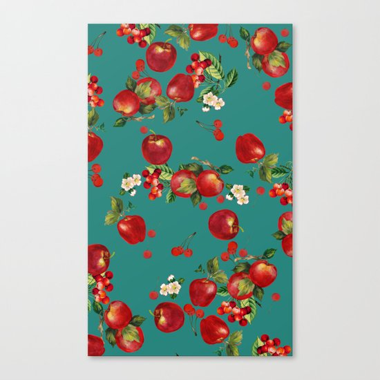 cherries and apples Canvas Print