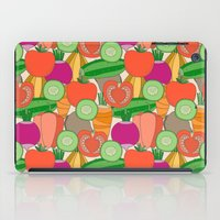 vegetables iPad Cases featuring Vegetables by Valendji