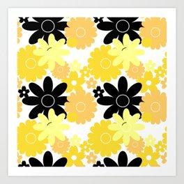 Summer Garden Pineapple Art Print