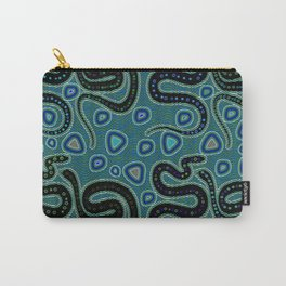 Snake Totem Seamless Blue Tapas Design Carry-All Pouch