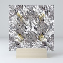 Silver Metallic Urban Industrial Mini Art Print