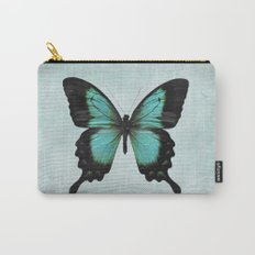 Turquoise Aqua Blue Green Butterfly Carry-All Pouch