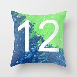 Blue & Green, 12, No. 4 Throw Pillow