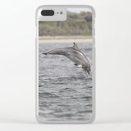 Playful young dolphin Clear iPhone Case