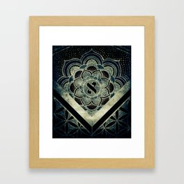 Sacred Geometry for your daily life - ESOTERIC ALEPH KYBALION EYE Framed Art Print