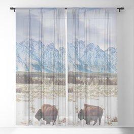 Tetons Trio Sheer Curtain