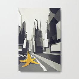 No taxi's in New York Metal Print