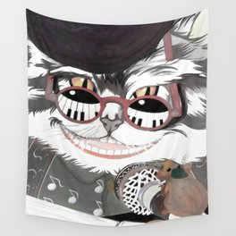 Crazy cat song Wall Tapestry
