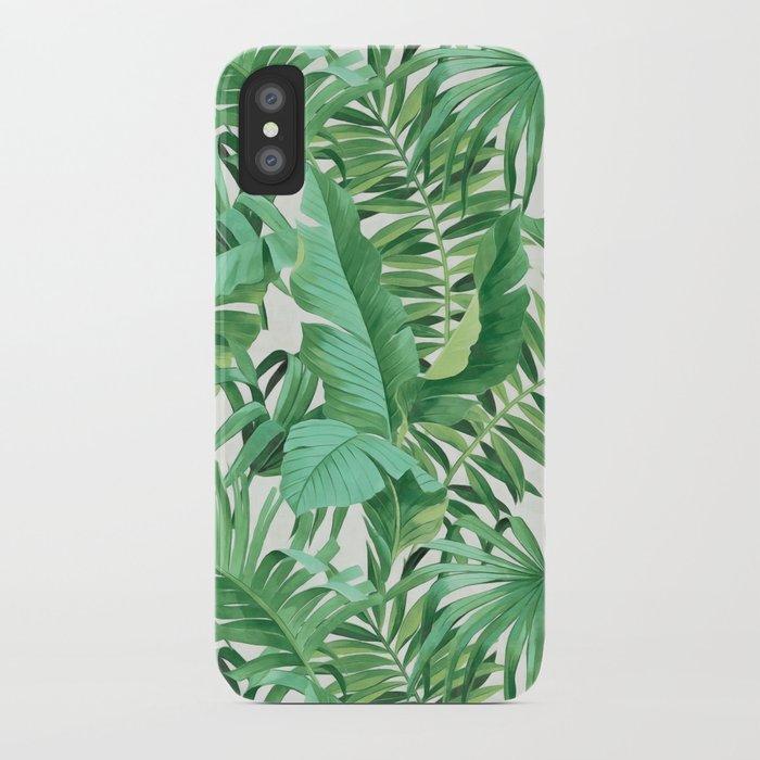 Green tropical leaves III iPhone Case