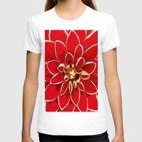 dahlia T-shirts featuring Dahlia by Saundra Myles
