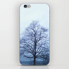 Bare Tree in a Blue Fog iPhone Skin