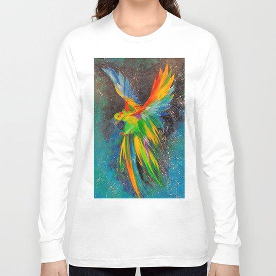 Parrot in flight Long Sleeve T-shirt