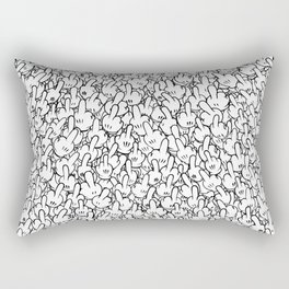 Middle fingers of Mickey Mouse Rectangular Pillow
