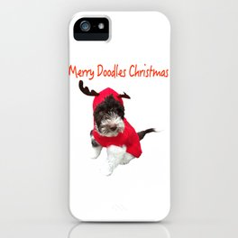 Merry Doodles Christmas Labradoodle iPhone Case