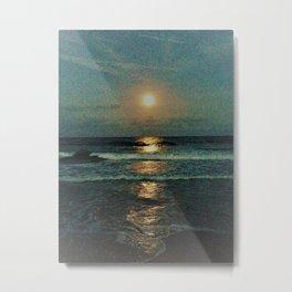 Reflecting moon rise Metal Print