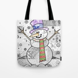 Coloured Snowman Tote Bag