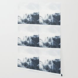 Foggy Forest Calm Landscape Wallpaper