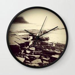 The Misty Shore Wall Clock