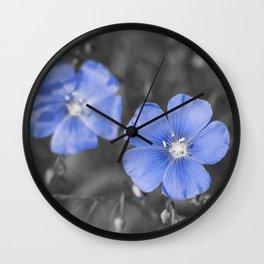 Gentle Blue Flower Wall Clock