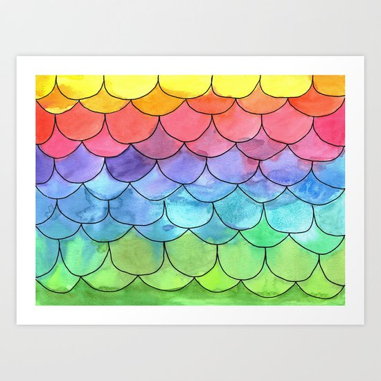 Rainbow Scales Art Print