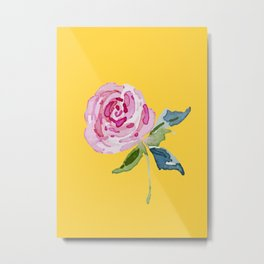 Watercolor Rose Metal Print