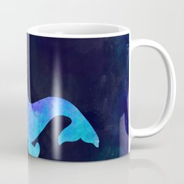 NARWHAL IN SPACE // Animal Graphic Art // Watercolor Canvas Painting // Modern Minimal Cute Coffee Mug