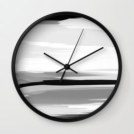 Soft Determination Black & White Wall Clock
