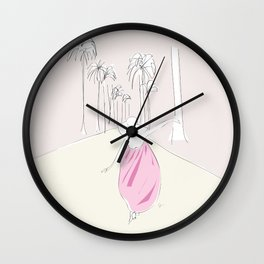 California Dreaming Girl Wall Clock