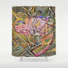 Rocky Abstract Shower Curtain