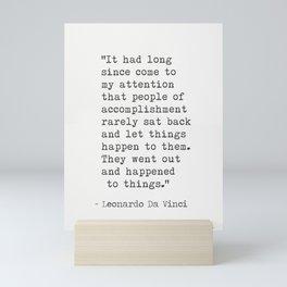 Leonardo Da Vinci quote 2 Mini Art Print