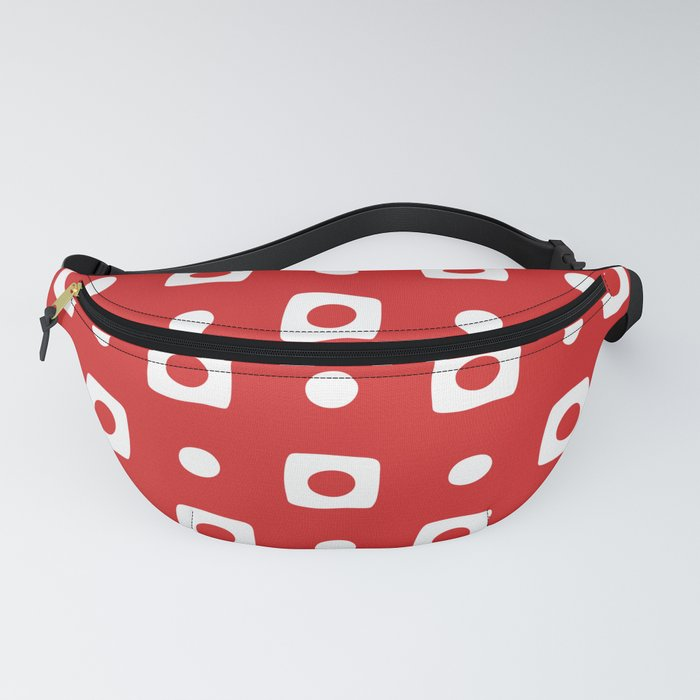 Mid Century Square Dot Pattern 11 Fanny Pack