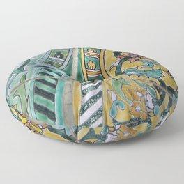 Foral Mosaik diagonal pattern Illustration Floor Pillow