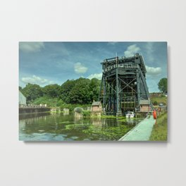Anderton Boat Lift Metal Print