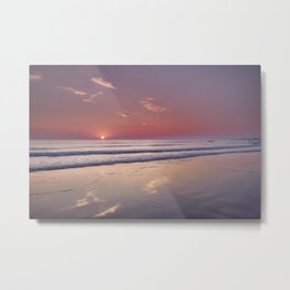 Barrosa Beach At Sunset. Cadiz Metal Print