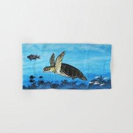 loggerhead sea turtle Hand & Bath Towel