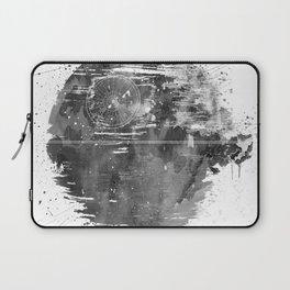 Death Sta Watercolor B&W Laptop Sleeve