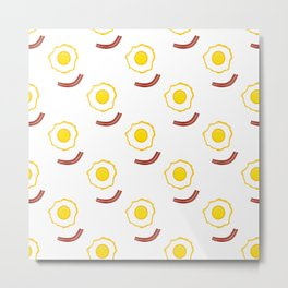 Bacon And Eggs Patten Metal Print