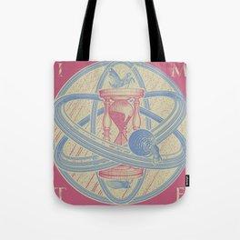 Time Infinity System. Orbit, sandglass, scarab, cicada, mantis. Engraving illustration. Part 1. Tote Bag