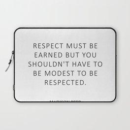 Respect - Beer Laptop Sleeve
