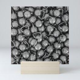 Kettlebells B&W Mini Art Print