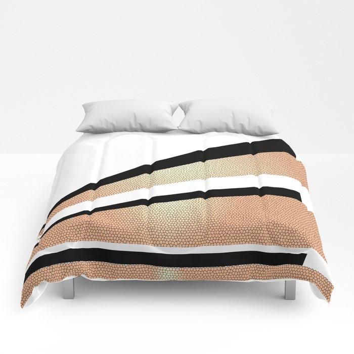 Sundown Retro Abstract Golden Sun Comforters