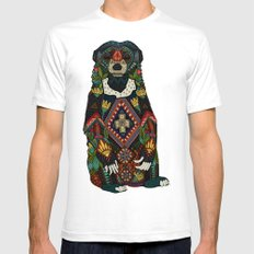sun bear almond White SMALL Mens Fitted Tee