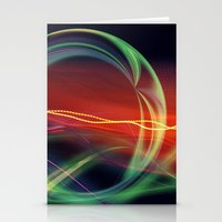 stargate Stationery Cards featuring The Gate Abstract by minx267