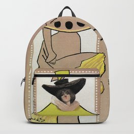 Vintage the Gay Parisienne Victorian theatre advertising Backpack