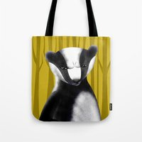 badger Tote Bags featuring Badger by makoshark