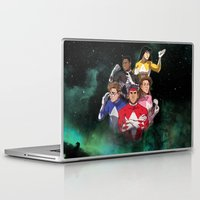 power rangers Laptop & iPad Skins featuring Mighty Morphin' Power Rangers by Ranger Danger