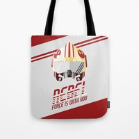 rebel Tote Bags featuring Rebel by Tony Vazquez