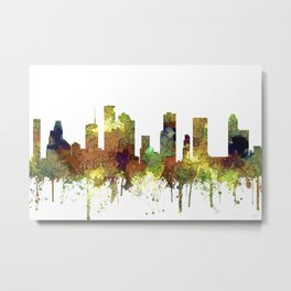 Houston Texas Skyline SG - Safari Buff Metal Print