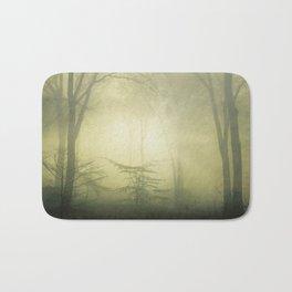forest awakening - foggy forest scenery Bath Mat