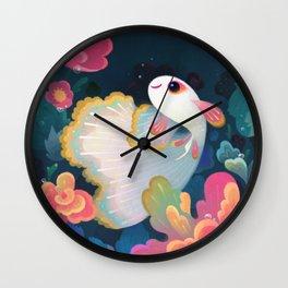 Flower guppy Wall Clock